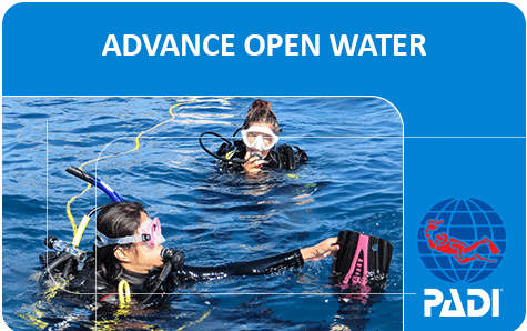 PADI (Junior) Advanced Open Water Diver course ***